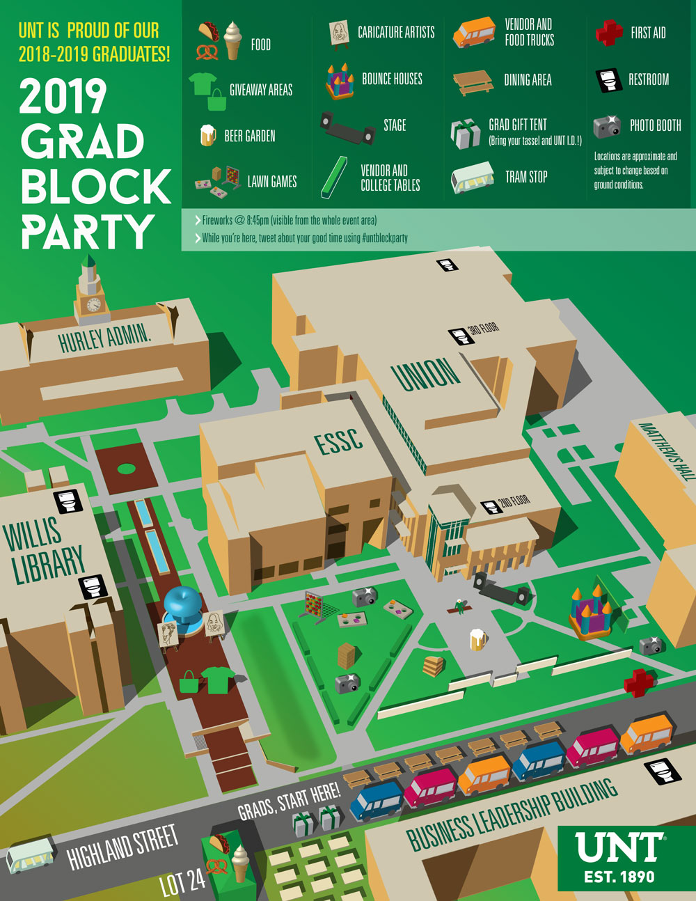 2019 Block Party map