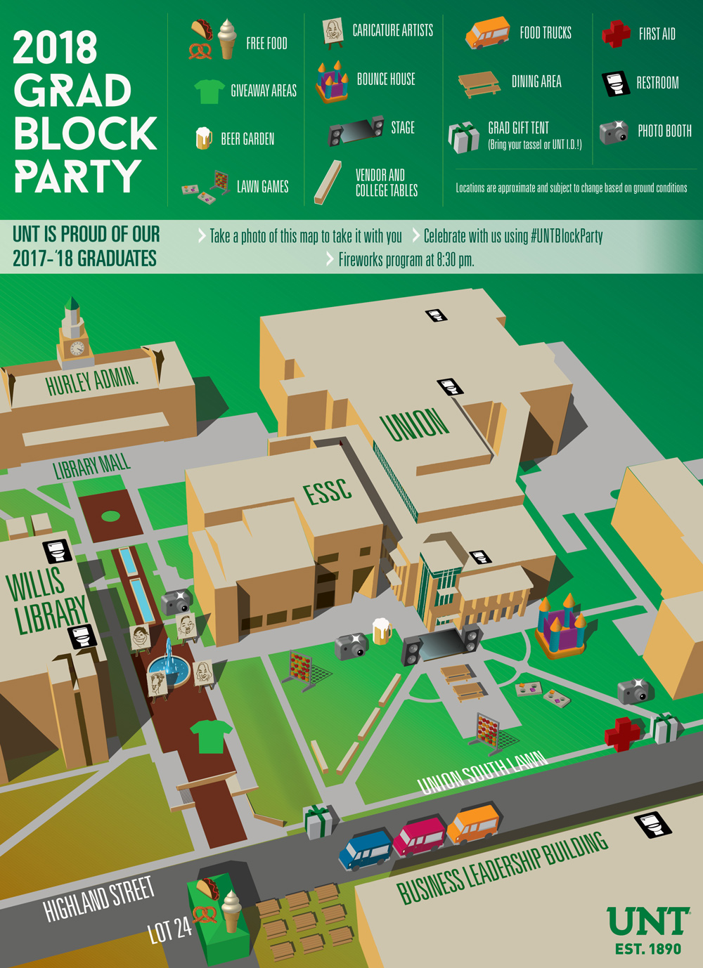 2018 Block Party map
