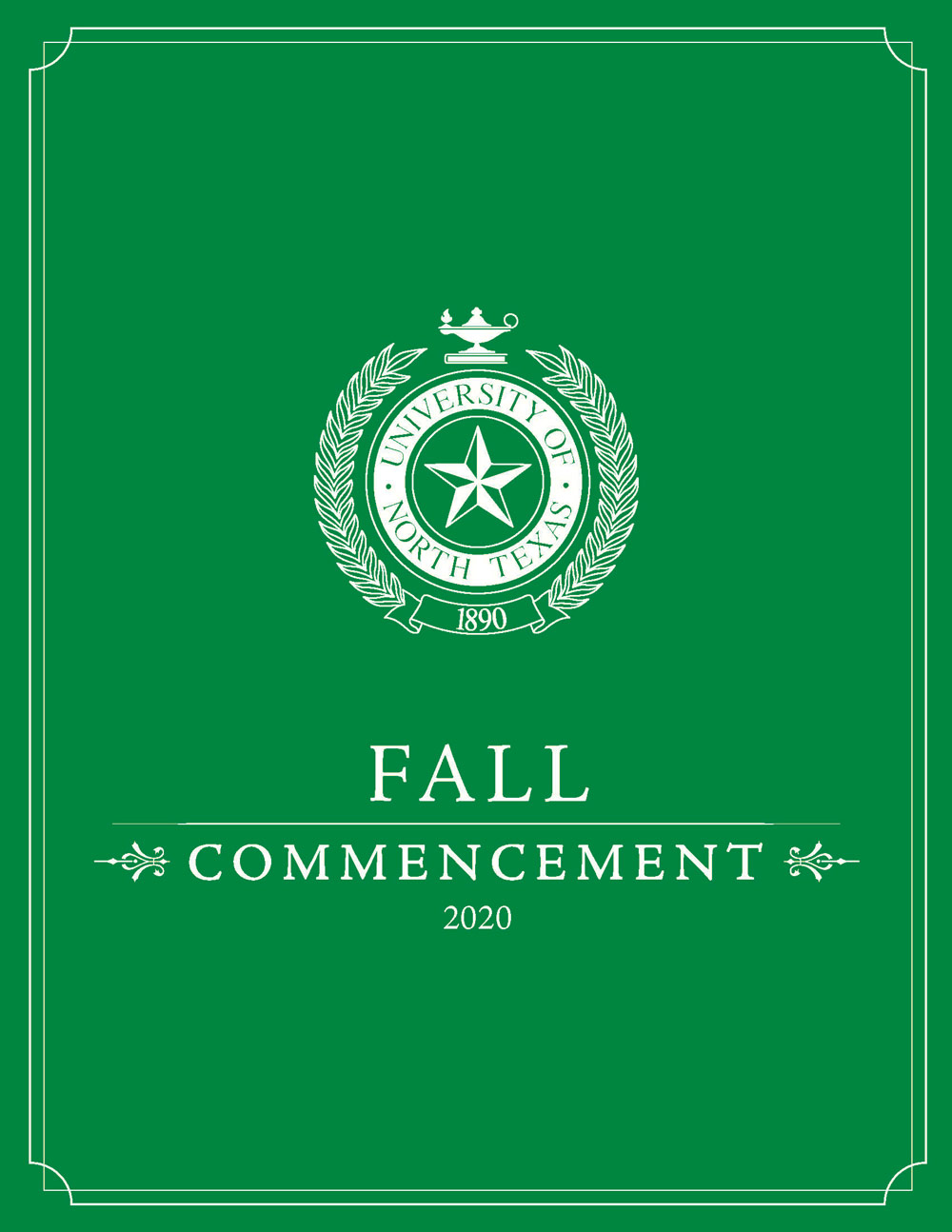 Fall 2020 Commencement program cover
